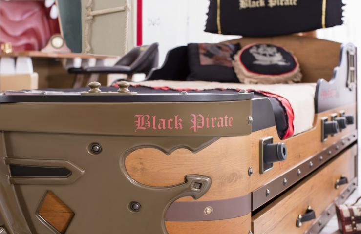 BLACK PIRATE schip bed boeg jongenskamer