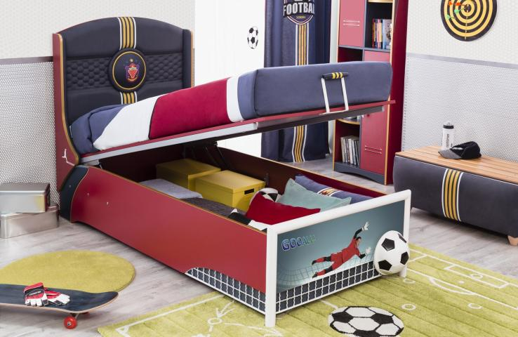 Champion boxspring opberg bed jongens bed kinderbed