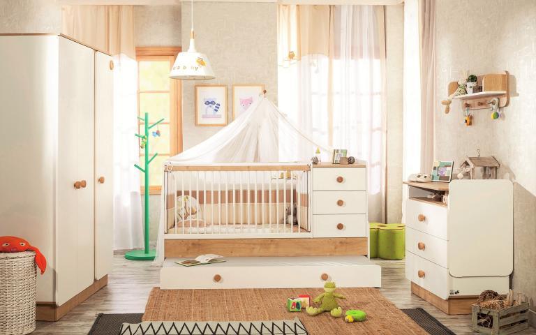 Jamie peuterbed meegroeibed babykamer peuter kamer ledikant muskietennet compleet