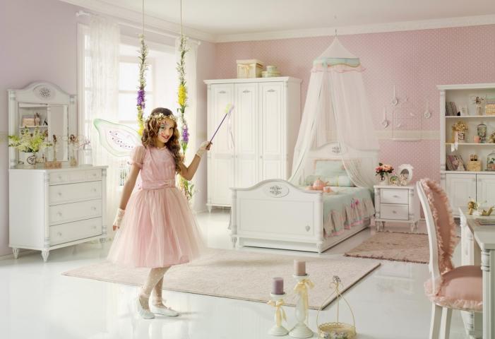 kinderkamer romantic meisjes slaapkamer