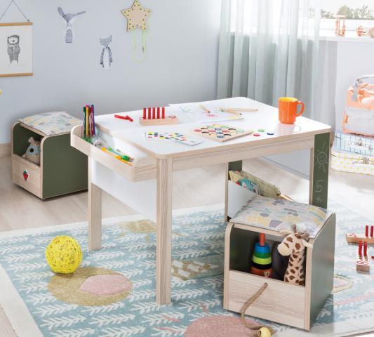 Montes bureau en stoeltje peuterkamer, babykamer, complete kinderkamer