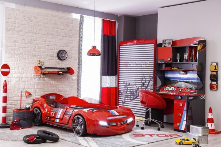 champion racer kinderkamer jongens autobed