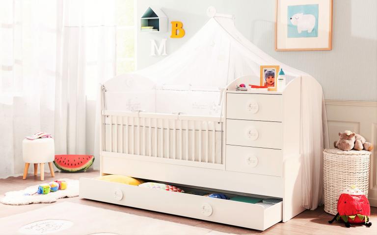 Sachsa peuterbed meegroeibed babykamer peuter kamer ledikant slaapkamer