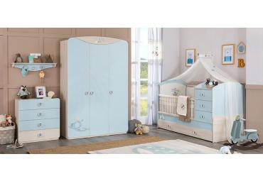 Babykamer blauw peuterkamer voor jongens