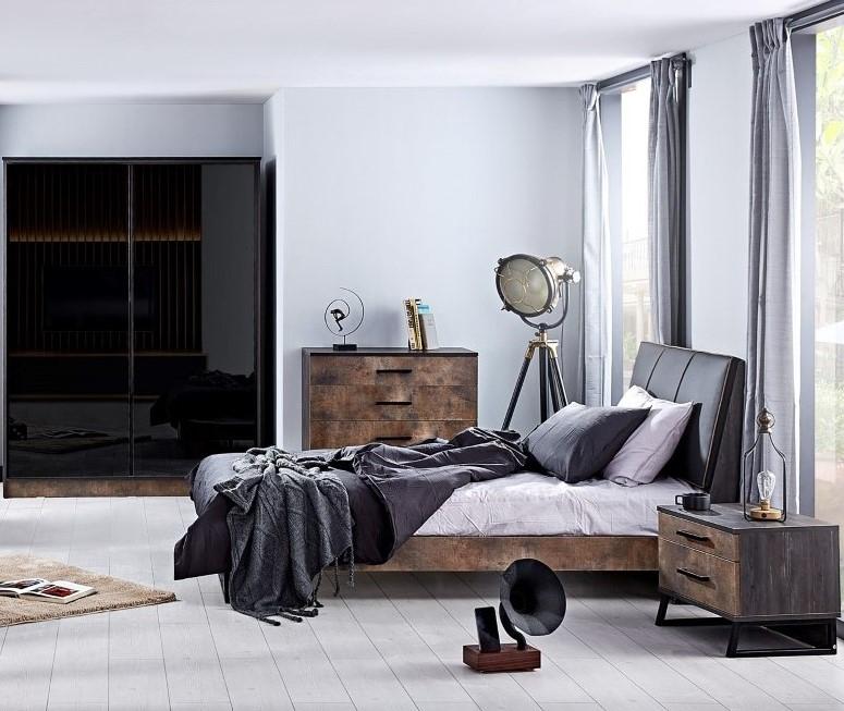 Trento industrieel tienerkamer jongenskamer slaapkamer