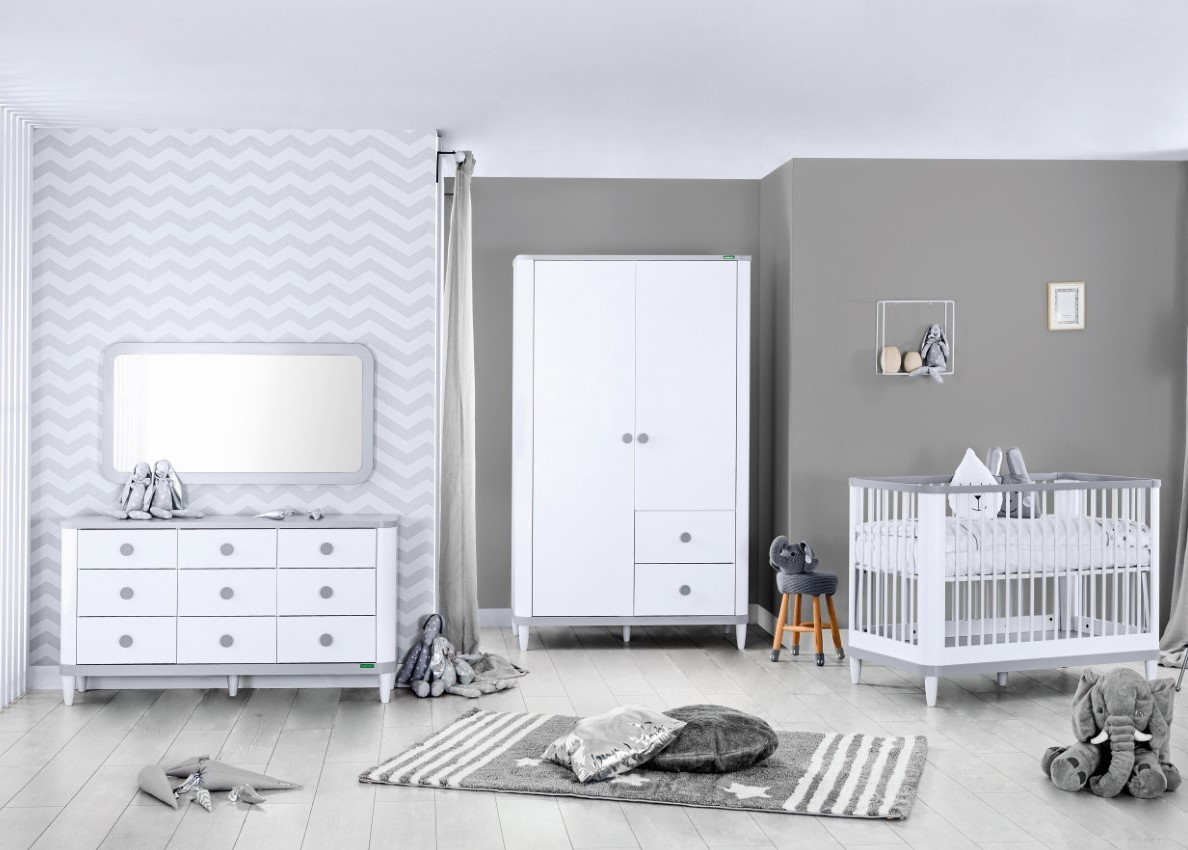 Novi wit grijze babykamer