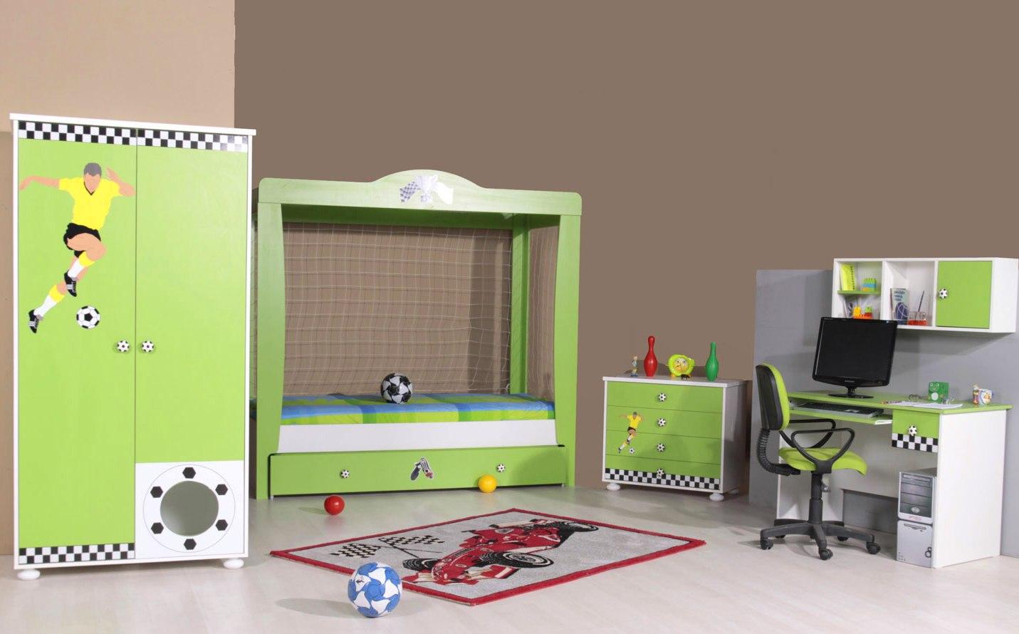 kinderladekast voetbal pro soccer groen / wit kopen? Specialist in ...