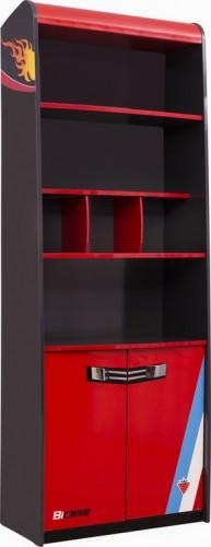 Champion Racer boekenkast, boekenkast jongenskamer kast, autokamer meubels, meubels jongenskamer, boekenkast jongenskamer auto, autokamer ideeën