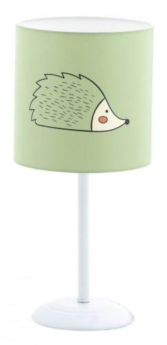Cento tafellamp groen, groen met witte lamp kinderkamer, mint groene lamp babykamer, groene lamp meisjeskamer, groene lamp jongenskamer, accessoires kinderkamer
