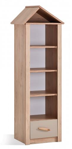 Cento houtlook boekenkast met schappen en lade, kast kinderkamer houtlook, boekenkast jongenskamer, boekenkast meisjeskamer