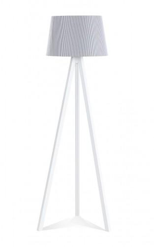 Florence driepoot staande lamp grijs met witte strepen, lamp babykamer, staande lamp kinderkamer, grijze staande lamp jongenskamer, meisjeskamer