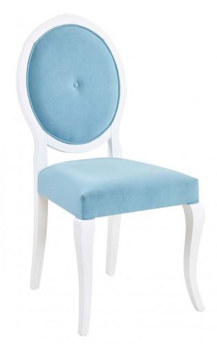Sofia blauwe meisjes stoel, bureaustoel blauw meisjeskamer, prinsessenstoel, meisjeskamer, kinderkamer, prinsessenkamer blauw