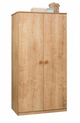 Stockholm 2 deurs kledingkast hout kinderkamer tienerkamer