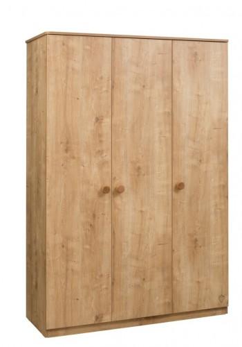 Stockholm 3 deurs kledingkast hout kinderkamer tienerkamer