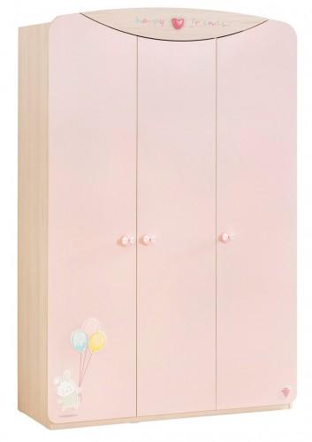 Babykamer roze 3 deurs kledingkast babykamer meisjes