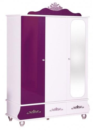 Prinsessen kledingkast 3-deurs