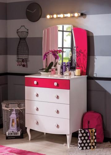 Sweety kinderladekast commode meisjeskamer kinderkamer roze