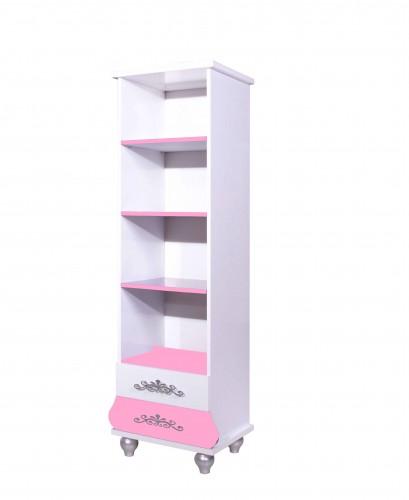 Prinses kinderboekenkast roze / wit
