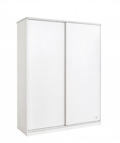 California schuifdeur wit met hang- en leg gedeelte, witte kledingkast