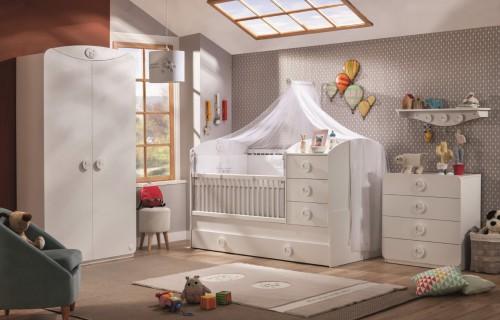 Sachsa babykamer peuterkamer meegroeikamer wit, babykamer modern, babykamer jongens, complete babykamer meisje