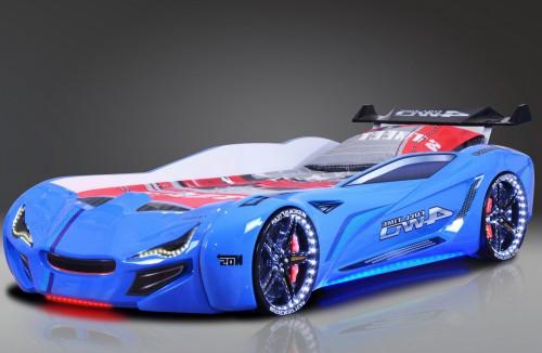 Autobed carbed street racer blauw racekamer kinderkamer jongens