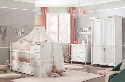 Romantic babykamer wit meisjeskamer romantisch