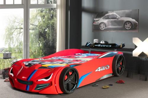 Autobed RLX rood, racebed jongenskamer, inspiratie autokamer, inspiratie kinderkamer auto, autobed jongens, rood auto bed