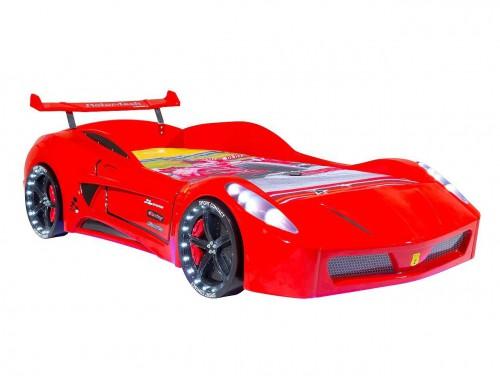 Autobed Ferrari rood jongenskamer autokamer racebed jongensbed kinderbed