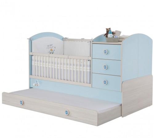 Babykamer babybed blauw, peuterbed, ledikant