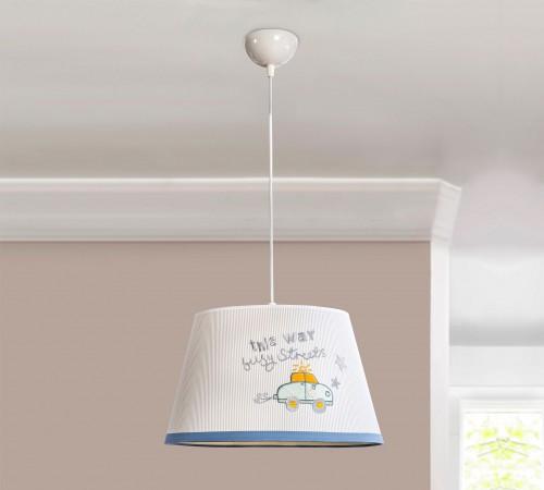 Babykamer blauw hanglamp, lamp babykamer, hanglamp peuter