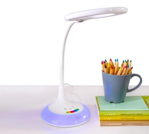 Bureaulamp LED met kleuren en dimbaar, tafellamp, werklamp met kleuren