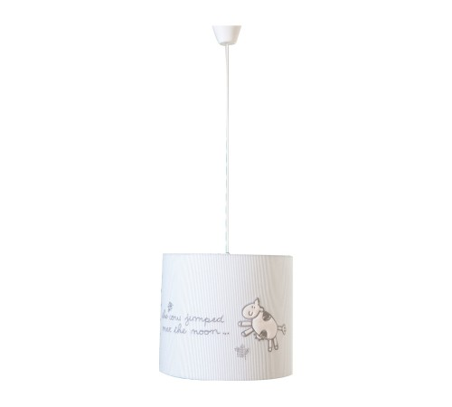 Sachsa hanglamp babykamer wit babybed