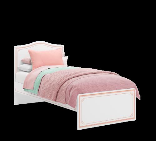 Emily Pink meisjesbed, eenpersoons meisjesbed, bed wit met roze, inspiratie complete meisjeskamer, prinsessenbed