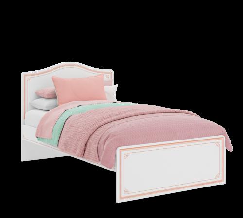 Emily Pink twijfelaar meisjesbed wit met roze, prinsessenbed, romantisch meisejsbed