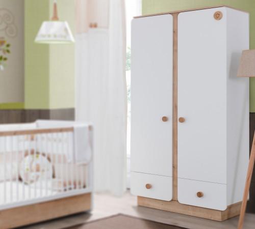 Jamie baby kledingkast 2 deurs unisex