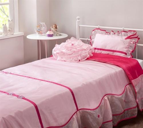 sprei roze bedsprei bedtextiel meisjeskamer