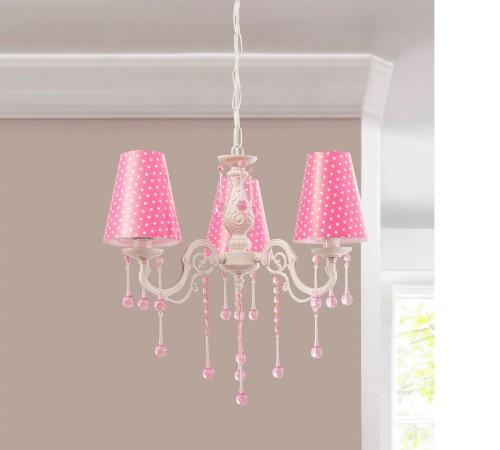 Lara kroonluchter roze, meisjeskamer, kinderkamer lamp