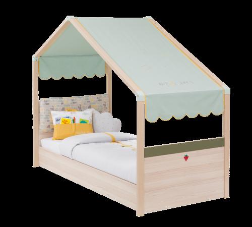 Montes bedhuisje peuterbed, kinderbed houtkleurig, bed huisje peuterkamer, inspiratie kinderkamer