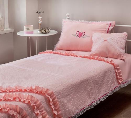 sprei roze bedsprei prinsessenkamer meisjeskamer