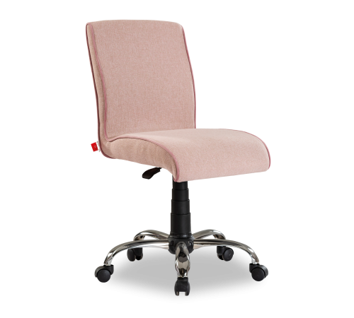 Soft roze stoel, bureaustoel lichtroze op wielen en in  hoogte verstelbaar, lichtroze stoel jongens, bureaustoel roze meisjeskamer, accessoires tienerkamer