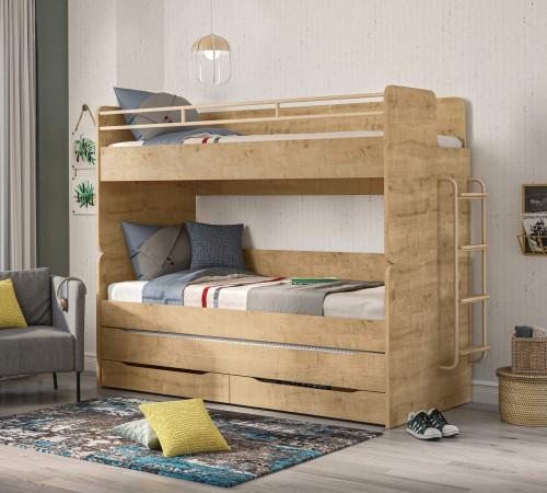 Stockholm Studio stapelbed hout look