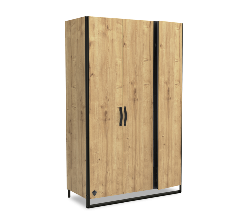 Timber 3 deurs kledingkast, inspiratie industriele slaapkamer, industriele kledingkast, kledingkast kinderkamer, inspiratie industriele jongenskamer, industriele meisjeskamer