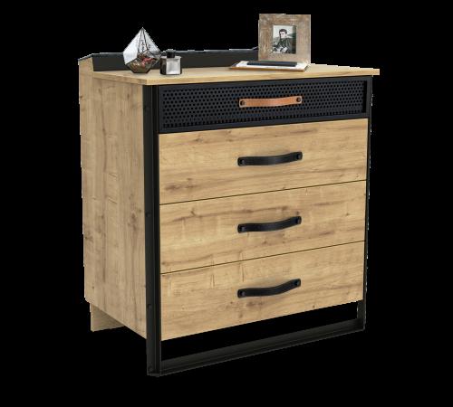 Timber industriële ladekast commode, industriële slaapkamer ideeën, ladekast industrieel, inspiratie tienerkamer
