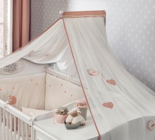Romantic muskietennet klamboe babybed babykamer
