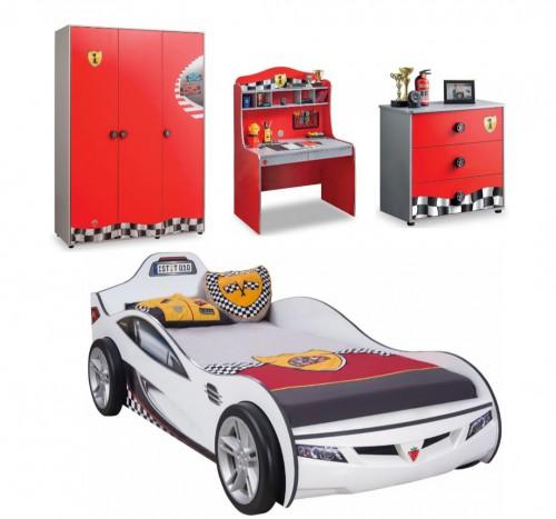 Race Cup autokamer, kinderkamer auto, complete jongenskamer