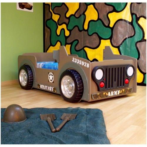 Leger jeep autobed kinderkamer jongensbed