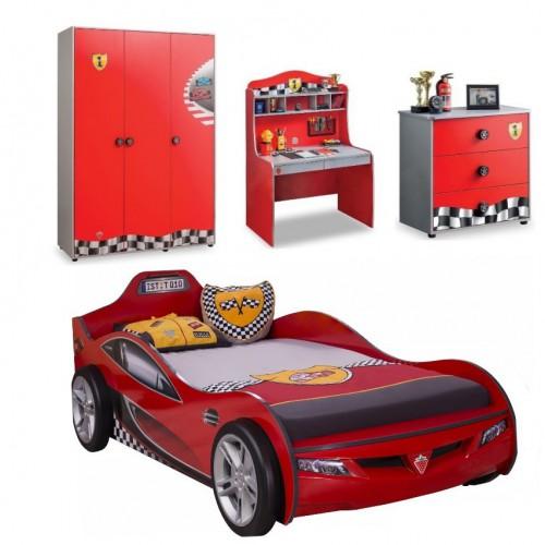 Race Cup autokamer, inspiratie jongenskamer auto, actie set jongenskamer, kindermeubelen, idee autokamer