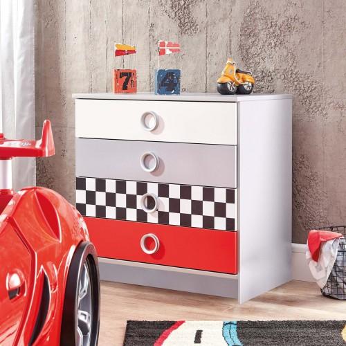 Turbo ladekast auto, commode auto, jongensladekast auto, inspiratie autokamer, inspiratie jongenskamer auto