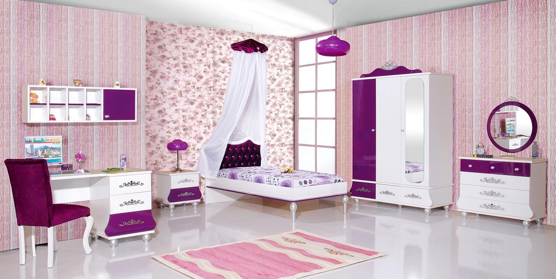 Paarse Accessoires Slaapkamer : Slaapkamer complete set wit met paars extra korting te koop