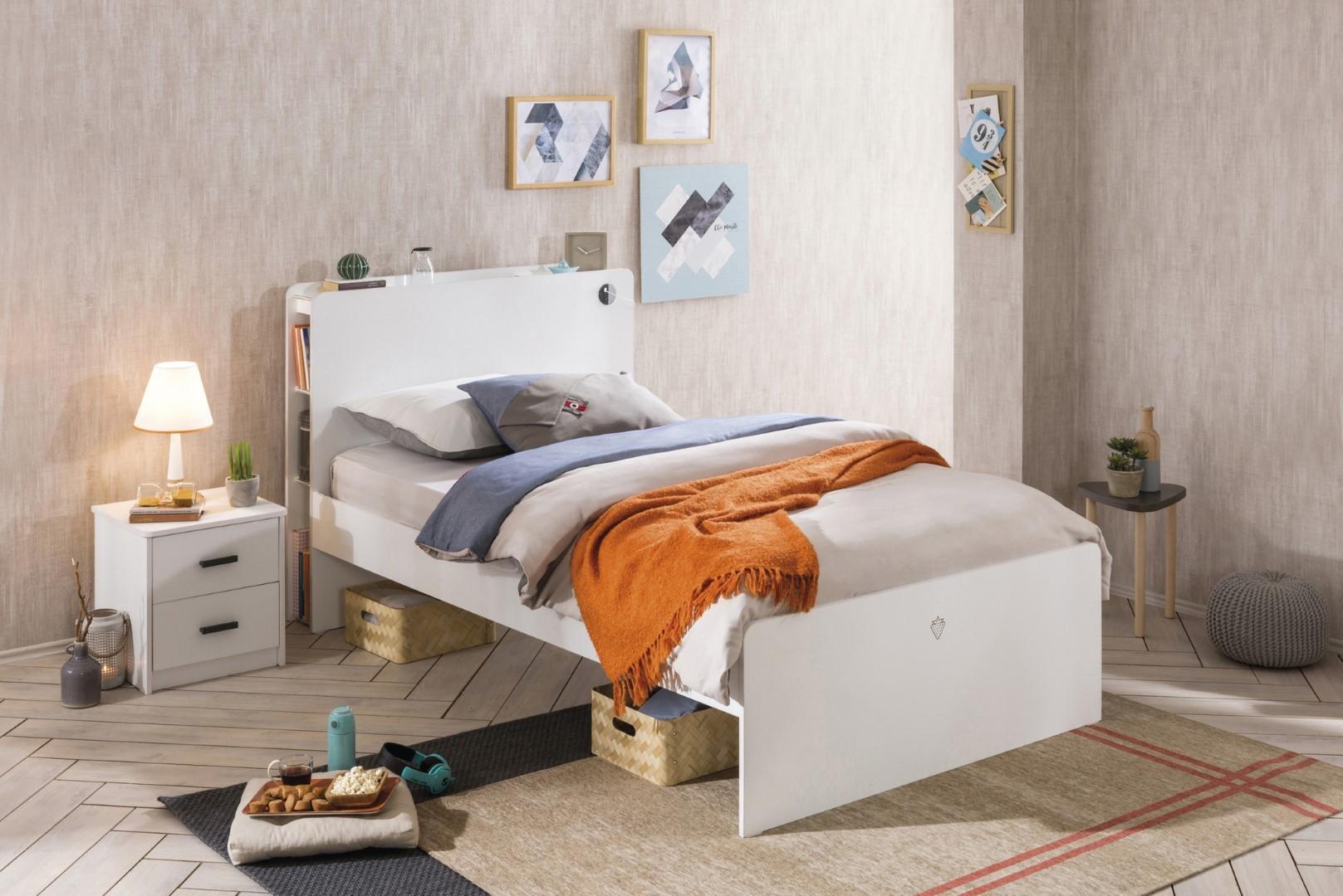 Witte Slaapkamer Meubels : California twijfelaar tienerbed tienerkamer wit 200 x 120 cm